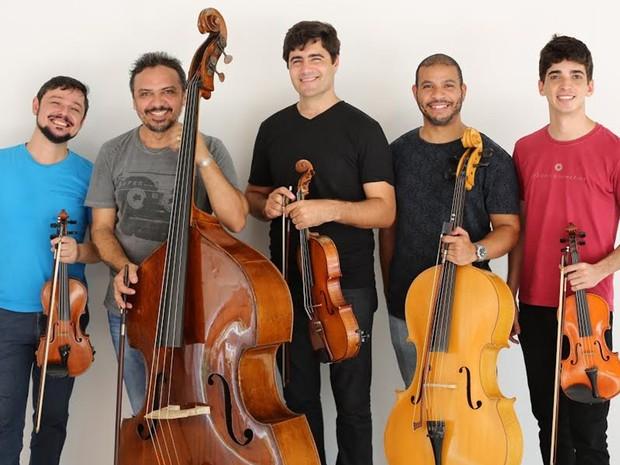 Lançamento do documentário e do novo site do Quinteto da Paraíba acontece em João Pessoa (Foto: Helinho Medeiros/Divulgação)