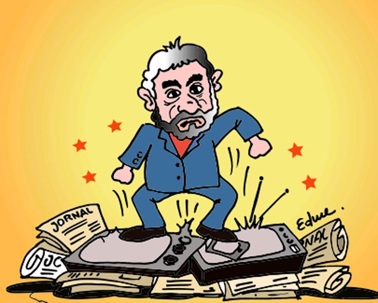 Lula puto com a imprensa