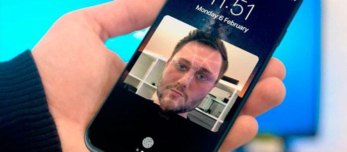 smartphones com reconhecimento facial
