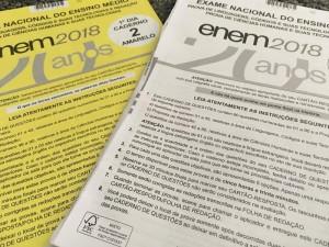 Cadernos de prova do Enem