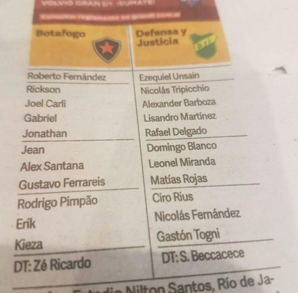 Jornal argentino confunde Botafogo