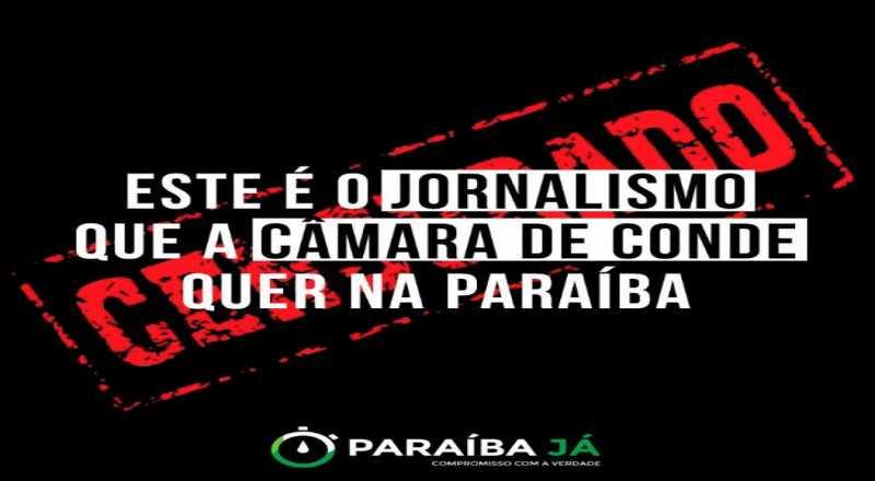 Photo of CENSURA: 'Paraíba Já' faz intervenção em sua capa como protesto contra ataques de vereadores de Conde