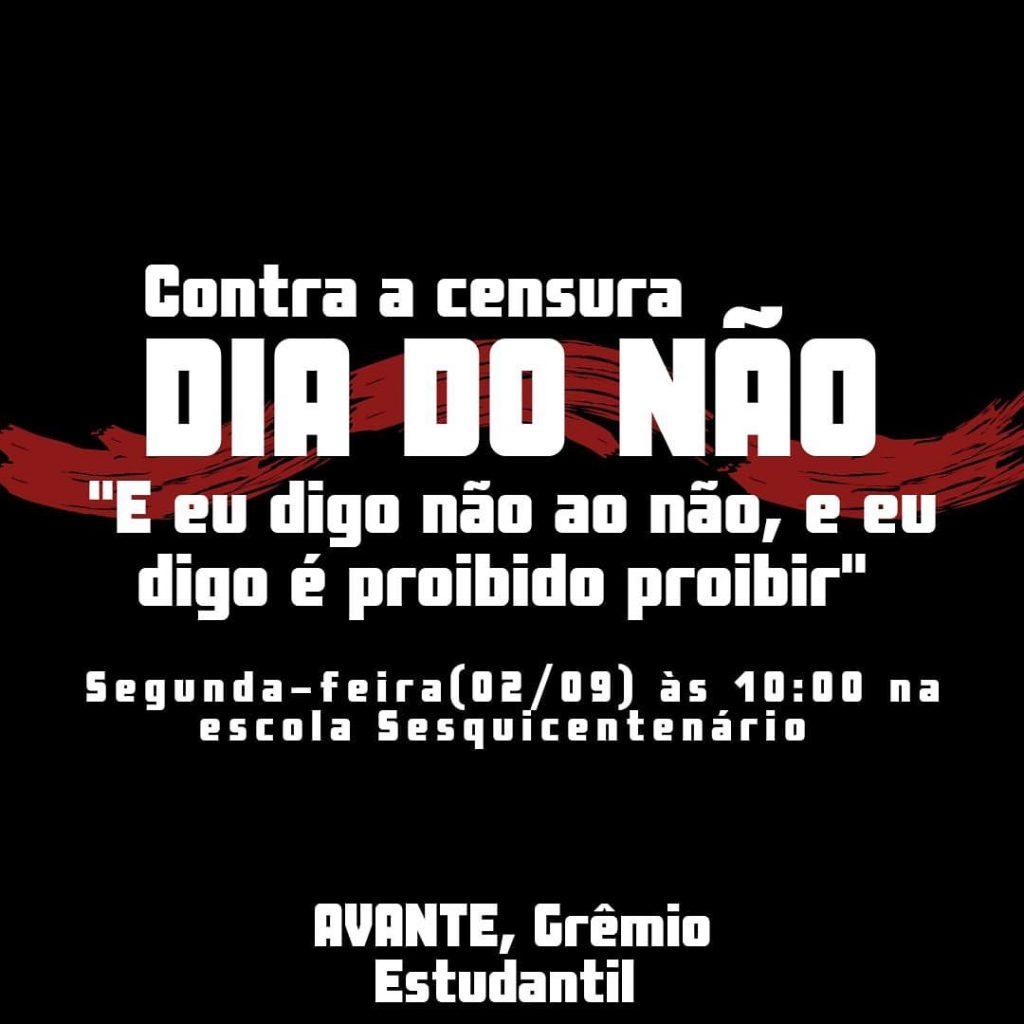 Photo of Escola faz ato 'contra censura' e em repúdio a postagens de deputado em redes sociais