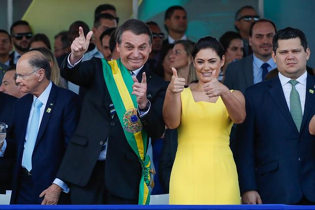 (Brasília - DF, 07/09/2019) Presdiente da República, Jair Bolsonaro, durante  desfile Cívico por ocasião do Dia da Pátria. Foto: Alan Santos/PR