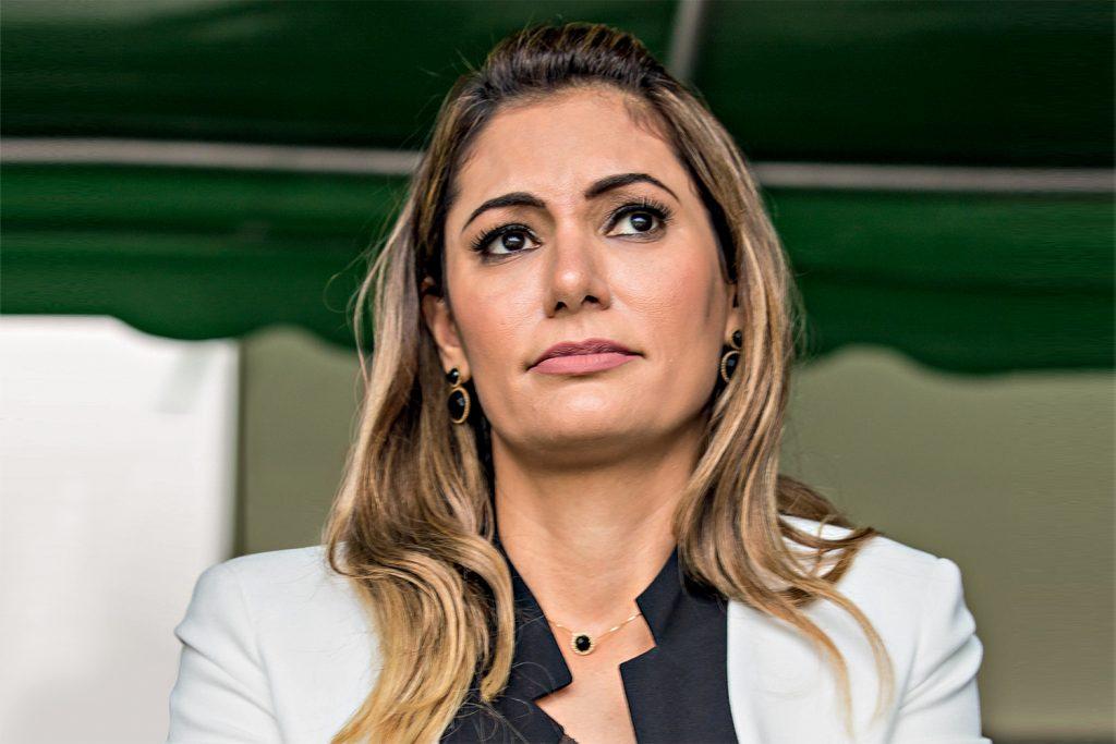 Resende, RJ, 19 -  08 ¿ 2017. Michele Bolsonaro, esposa do Deputado Jair Bolsonaro, durante cerimonia de formação de novos Cadetes na Academia Militar das Agulhas Negras.