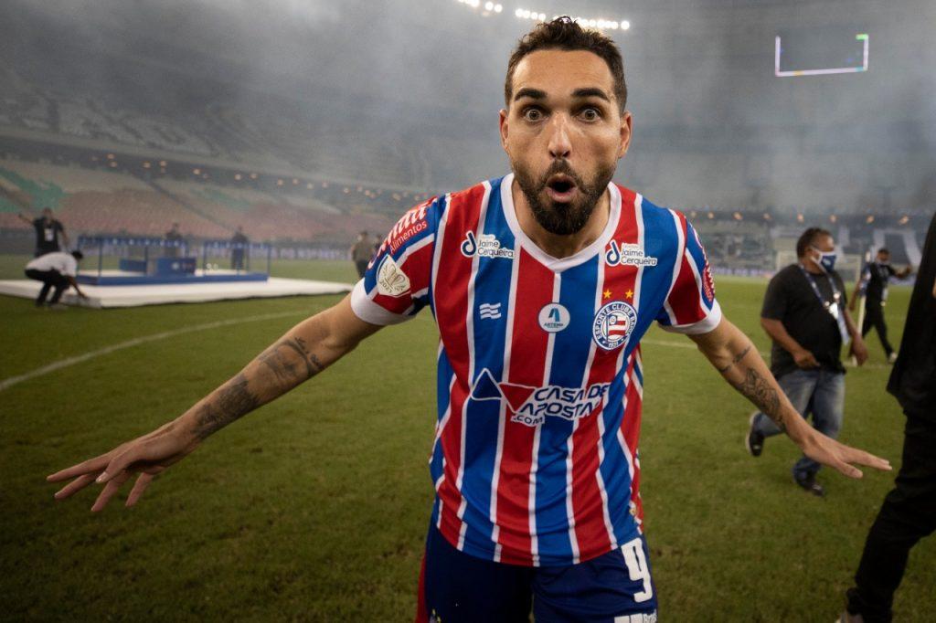 Gilberto, atacante do Bahêa! Foto: Lucas Figueiredo / CBF