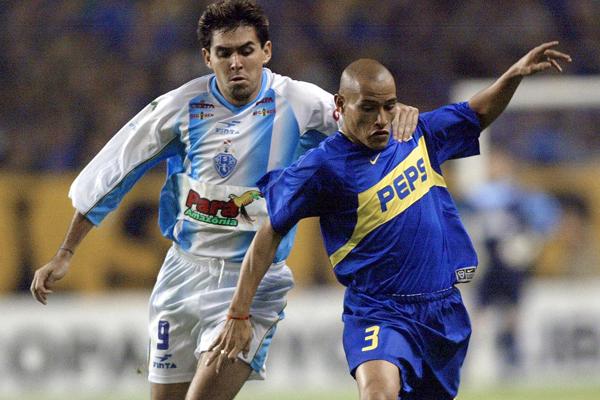Paysandu x Boca Juniors se enfrentaram na Libertadores de 2003. Imagem: Getty Images